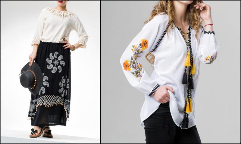 Fırfırlı Elbise ve Etek Modelleri